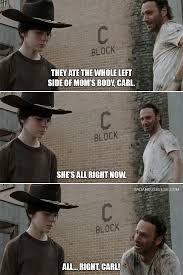 Rick And Carl Meme - the walking dead walking dad jokes memes of the walking dead