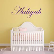 wall name stickers removable sticker decals aaliyah script wall name graphic sticker removable room decor custom