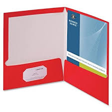 Business Card Holder Amazon Amazon Com Business Source Two Pocket Folders With Business Card