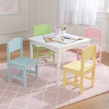 kidkraft nantucket 4 piece table bench and chairs set nantucket table 4 chair set pastel