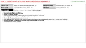 Sample Photographer Resume by Laborer Shipyard Resume Sample