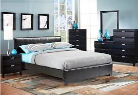 Upholstered Bedroom Furniture by Gardenia Black 5 Pc Queen Upholstered Bedroom Bedroom Sets Black