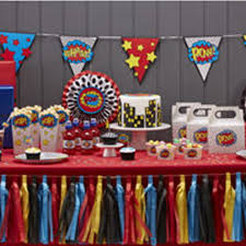 comic superhero u0027pow kaboom u0027 birthday party tableware balloons