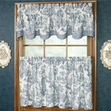 Blue And White Window Curtains Victoria Park Toile Window Treatments