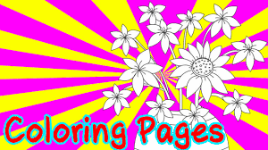 free flowers coloring pages for kids coloring games flowers