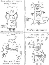 printable robot valentines valentine craft ideas pinterest