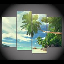 compare prices on beach and palm tree painting online shopping