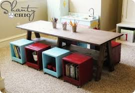 activity table with storage diy kids activity table with rolling storage cubes i love it with