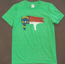 Kenya Flag Clothing North Carolina Pig State Flag T Shirt In Military Green Or