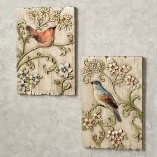 wall plaques touch of class garden birds plaque set multi pastel