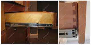 Kitchen Furniture Kitchen Cabinet Drawer Slides Latest Picture Of - Kitchen cabinet drawer rails