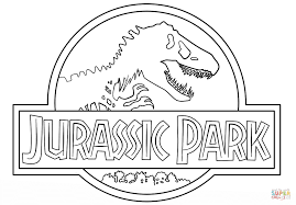 jurassic park logo coloring page free printable coloring pages