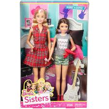 barbie sisters barbie skipper dolls 2 pack walmart