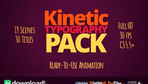 videohive kinetic typography 4k free download free after effects