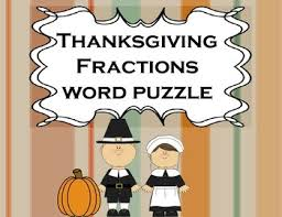 fractions thanksgiving for math or literacy centers thanksgiving