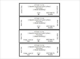 sample tickets template event ticket templates make your own