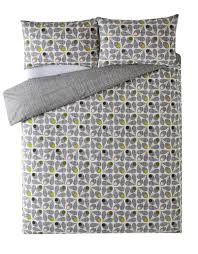 orla kiely bedding acorn cup slate free uk delivery