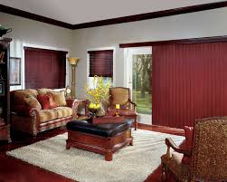 Feng Shui Living Room Furniture by Faux Wood Blinds