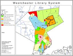 New York City Area Map by Westchester Library System Public Library Service Area Maps