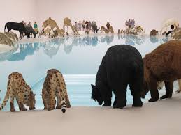 99 life sized replicas of animals in large installation public