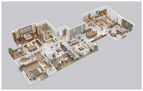 5 bedroom house plan 3d 5 bedroom house floor planshouse plans exles house plans