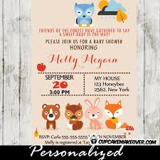 woodland baby shower invitations woodland animals baby shower invitation personalized