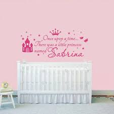 stickers pour chambre d enfant personnalisé princesse fille nom stickers pour chambres d enfants