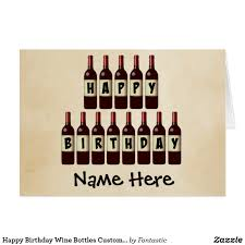 birthday wine birthday wine bottles customized card