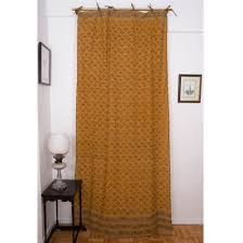 Mustard Curtain Indian Print Curtains Indigo U0026 Kalamkari Curtains Marigoldstyle