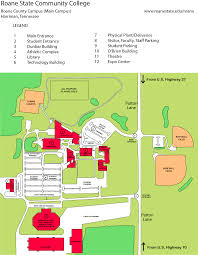 Tennessee Tech Campus Map by Roane County Main Campus Roane State Community College