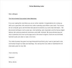 marketing letter template 28 images marketing cover letter 7