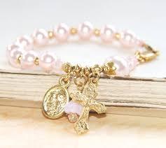 baby rosary bracelet catholic baby bracelet rosary bracelet for baby girl baptism