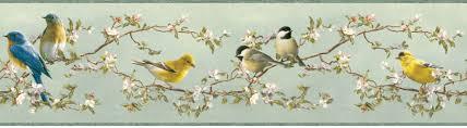 songbirds wallpaper border