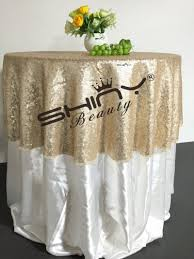 beautiful table cloth design 48 round chagne sequin tablecloth wholesale wedding beautiful