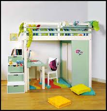 lit surélevé avec bureau lit mezzanine enfant avec bureau et rangements intégrés katia