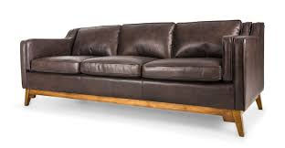 Madrid Leather Sofa by Brown Leather Sofa Upholstered Article Worthington Modern