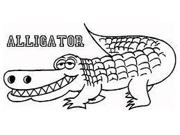 a is for alligator coloring page coloring page