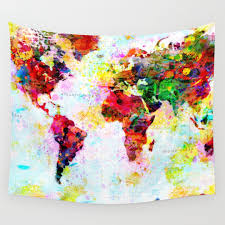 Map Tapestry Russia Wall Tapestries Society6