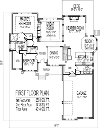 2 story house floor plans 6 bedroom craftsman home design with