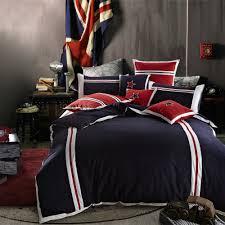 online shop boys plain sports blue red bedding sets stripes stars
