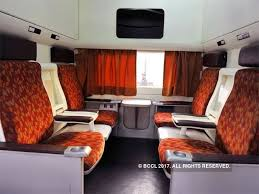 Coach Interior For Cars Railways To Unveil Ultra Luxury Anubhuti Coaches For Shatabdi