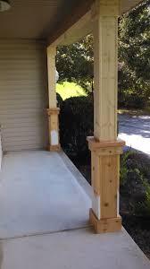 wood car porch beefing up the porch columns part 1 of a gazillion porch