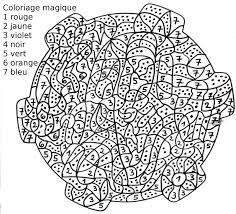 coloriage cod les chiffres coloriage magique multiplication