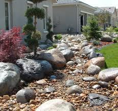 dry river bed landscaping ideas landscape truckee rock nursery
