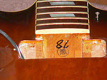 Epiphone Casino  Hon  Name Stamp   quot Kuro quot    likely the name of the inspector   quot    quot  is production number and not year