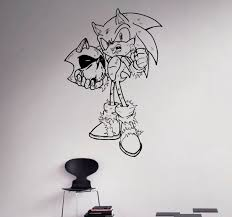 sonic hedgehog wall vinyl decal comics hero wall sticker home