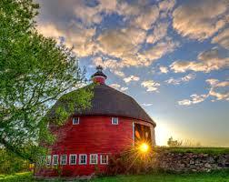 Round Barns In Wisconsin Minnesota Landscape Etsy