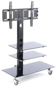 Simple Tv Stands Shelves Tv Stand For Floor With Glass Shelves Fits Monitors 37