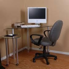 furniture sleek wooden computer corner desk with hutch and