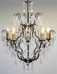 Black Iron Chandeliers Wrought Iron Chandelier Chandeliers Lighting H27 X W21